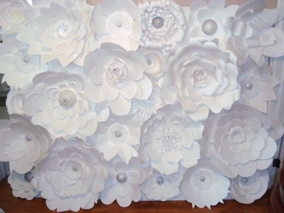 DIY Paper Flower Backdrop White