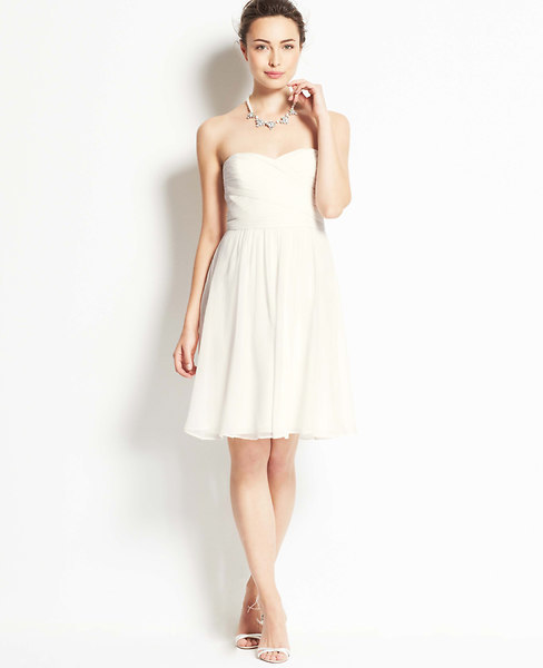 Wedding - Silk Georgette Strapless Dress
