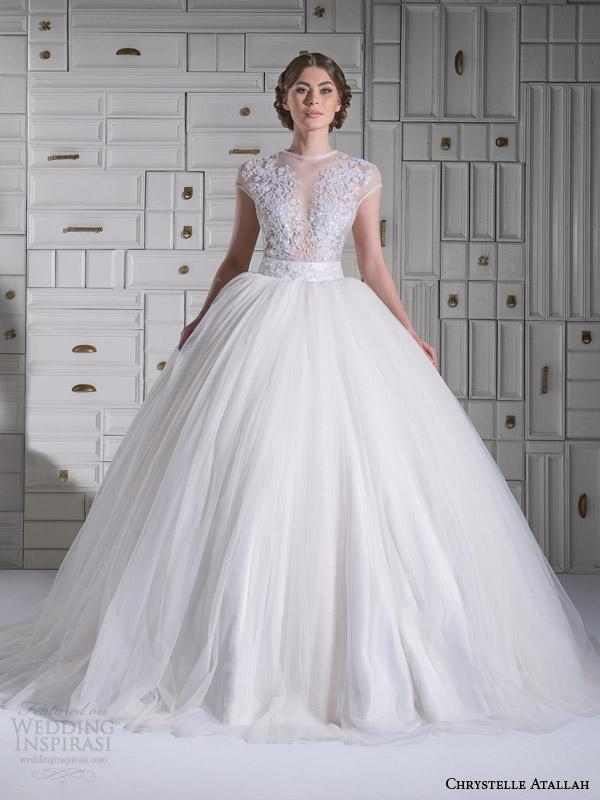 discount 2015 new arrival chrystelle atallah applique beaded illusion tulle ball gown wedding dresses jewel bridal gowns covered button wedding dress online with 15707piece on hjklp88s store dhgatecom The 4 Main Dress Styles That Will Dominate In 2015