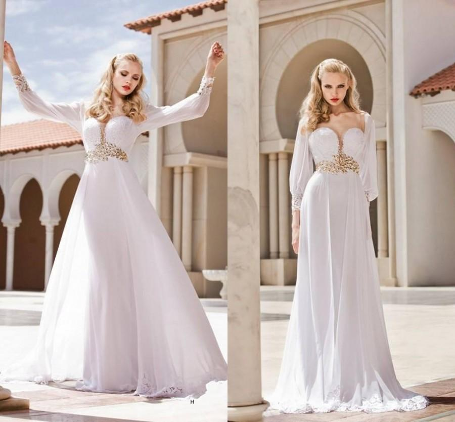 Discount 2015 spring long sleeve wedding dresses a line for Wedding dress discount warehouse