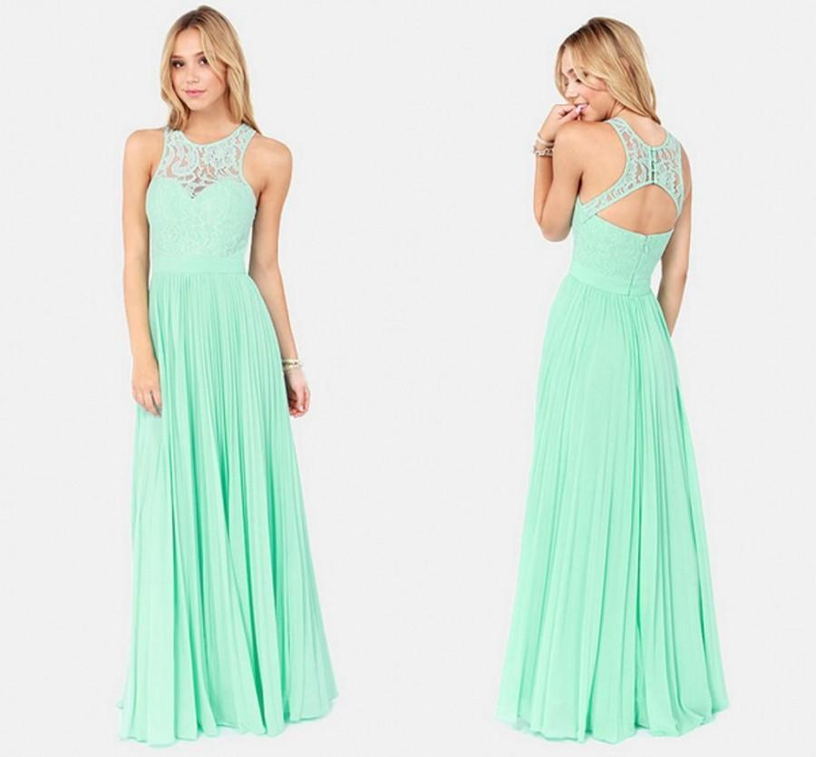Discount Charming Open Back Chiffon Evening Dresses 2015 ...