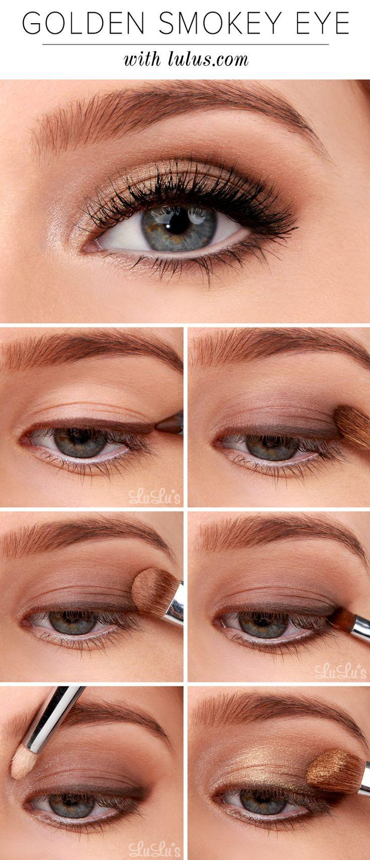 Свадьба - LuLu*s How-To: Golden Smokey Eyeshadow Tutorial