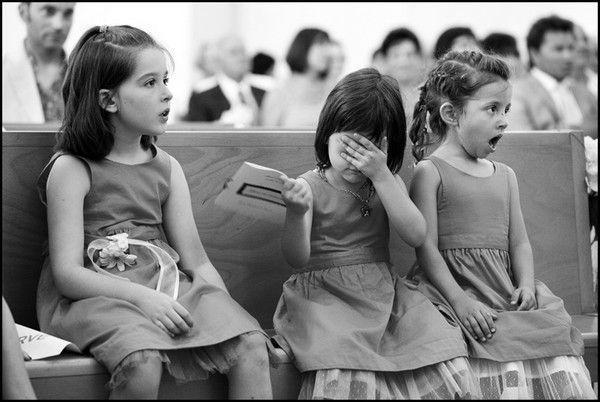 Wedding - LOOK: Flower Girls Are Shocked By Wedding Kiss