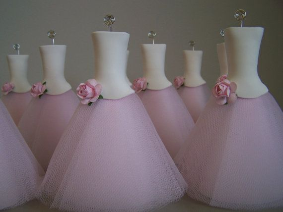 Свадьба - Place Card Holders Pink Delight 10 Pieces