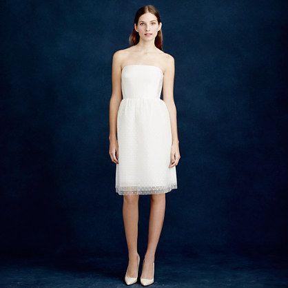 Wedding - Amelia Strapless Dress In Flocked Tulle