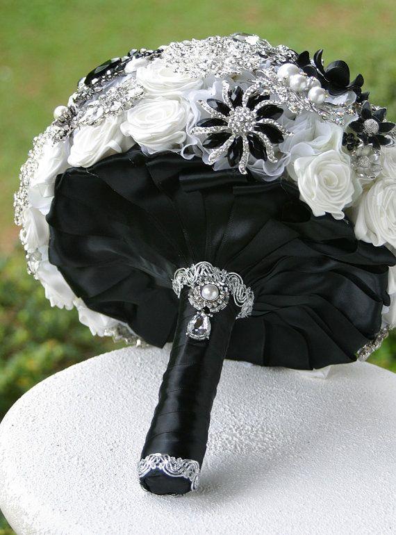 black and white wedding black wedding bouquet ideas 2212635