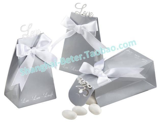 Boda - 12pcs TH020 Silver Forever Love Wedding Favor Box婚礼布景