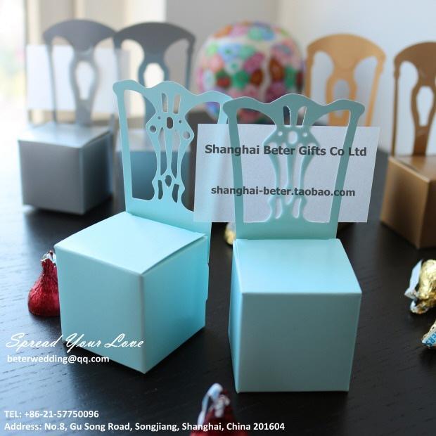 12pcs Sky Blue Candy Box Wedding Decor Ideas席位卡TH005 #2212806 ...