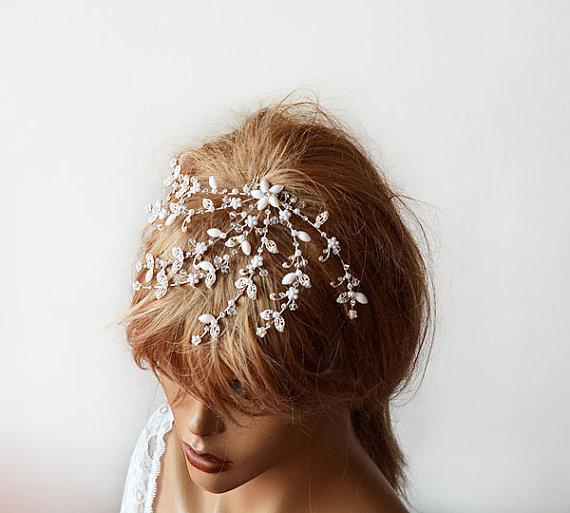 Wedding - Bridal Headband, Wedding Headband, Wedding Hair Accessory, Bridal Hair Accessory, Wedding Comb, Bridal Hair Comb