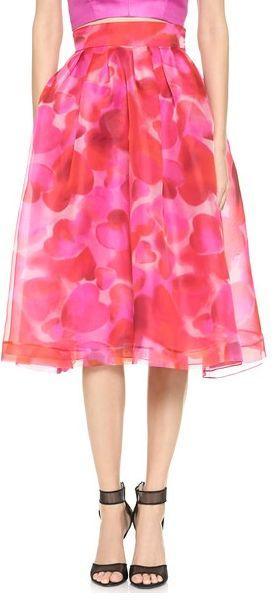 Wedding - Heart Print Full Skirt
