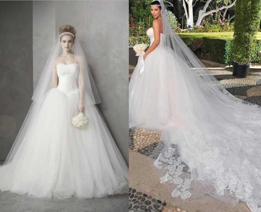 Celebrity Wedding Dress Luxury Hot Sale Actual Images Strapless Lace ...