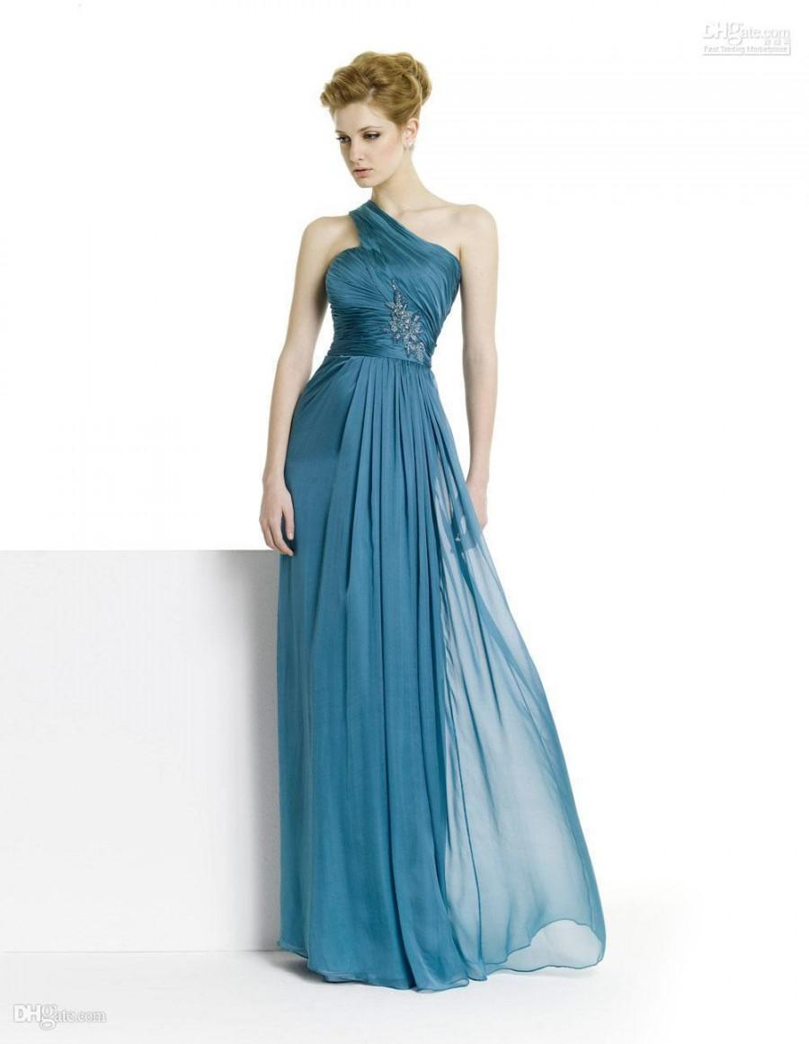 Wedding - New One-Shoulder Graceful!Strapless Sleeveless 2012 New Sexy Chiffon Evening Dress Party Dress Online with $73.3/Piece on Hjklp88's Store