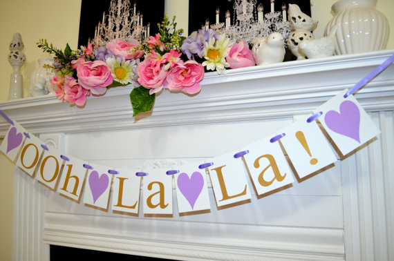 Ooh La La Bridal Shower Decorations Wedding Garland Lingerie