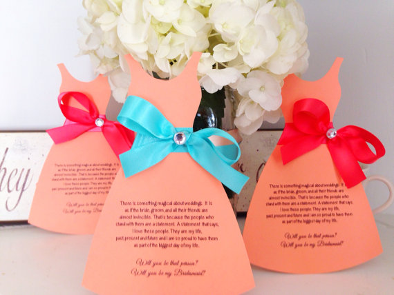 Wedding - Will you be my bridesmaid cards wedding party invitations will you be my maid of honor cards