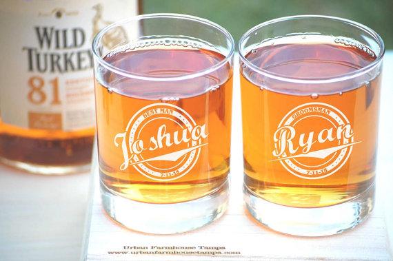 Groomsmen Gift Personalized Whiskey Glasses Wedding Groomsmen ...