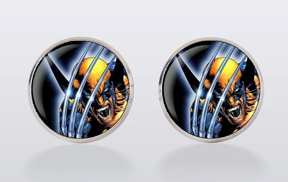 Свадьба - Wolverine Cufflinks, cuff links, men cuff links, superhero, wedding, groom, groomsmen,wedding cufflinks
