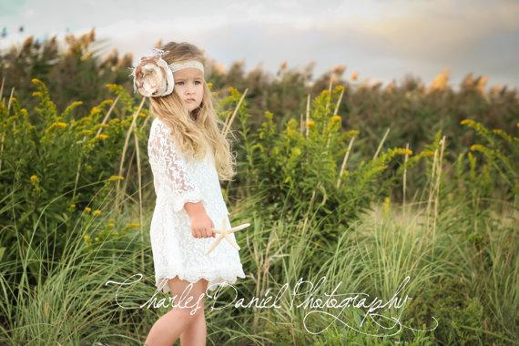 Chloe lace flower girl dress christening baptism dress for Country girl wedding dress