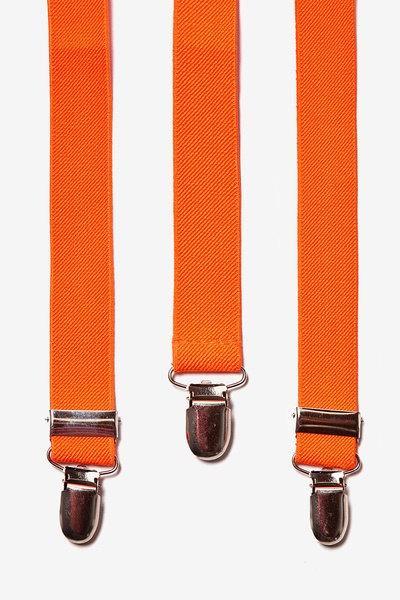 Wedding - Orange Suspenders. Suspenders. Mens Suspenders. Groomsmen Suspenders. Leather Suspenders. Wedding Suspenders. Adjustable Suspenders