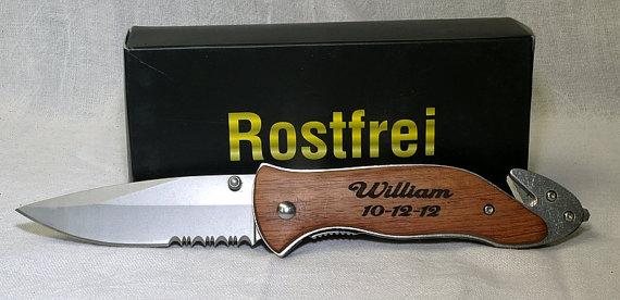 Свадьба - Best Man Gift,Groomsmen Gift,Personalized Knife,Folding Knife,Survival,Engraved Knife,Fishing Knife,Hunting Knife,Pocket Knife,SB138