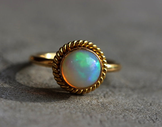 gold split inlay rings gem band ring flashopal opal mens oval