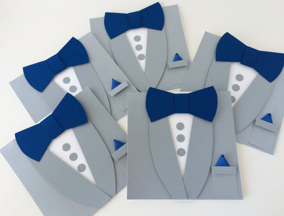 Свадьба - Gray Groomsmen Invitations - Bow Tie Card - Will you be my Best Man - Wedding Card - Asking Groomsmen