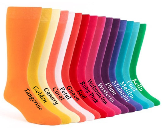 Свадьба - David's Bridal specialty color grooms socks, groomsmen socks, wedding gift, bridal party