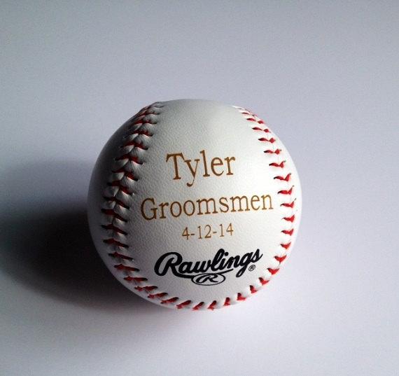Свадьба - Groomsmen Gift - Rawlings Baseball - Laser Engraved - Personalized - Jr. Groomsmen Gift - Ring Bearer Gift - MLB Baseball