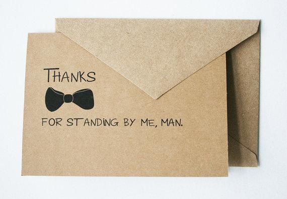 زفاف - Thank You for Being My Groomsman -- Personalized Set of Cards & Envelopes for your Wedding Party -- CHOOSE YOUR QUANTITY