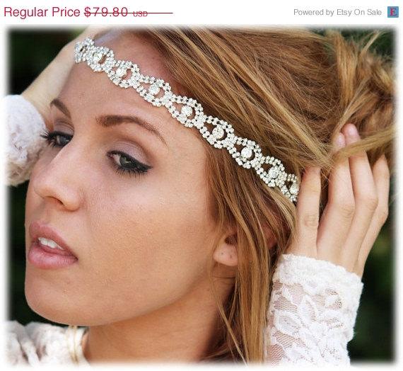Bridal Hair Accessory Headband Bohemian Rhinestone Crystal Wedding
