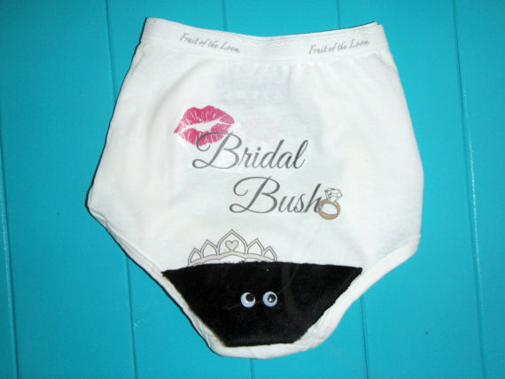 زفاف - Bridal Bush Panty for your Bachelorette Party, Lingerie Shower, Bridal Shower or Birthday Party.