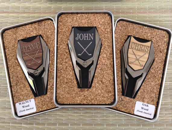 Personalized Groomsmen Gifts Wood Golf Ball Marker Divot Remover For Best Man Gift Father Of The Bride