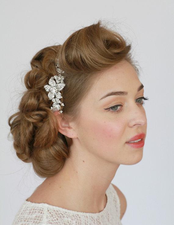 Bridal Headband Crystal Rhinestone Hair Accessories Vintage Wedding Piece Wrap
