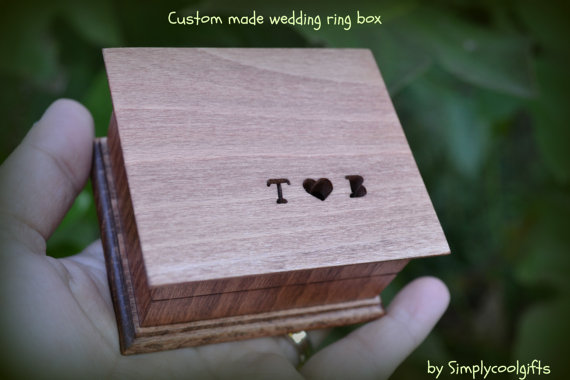 Wedding Gift Collection Boxes: Wedding Ring Box, Custom Ring Box, Personalized Gift Box