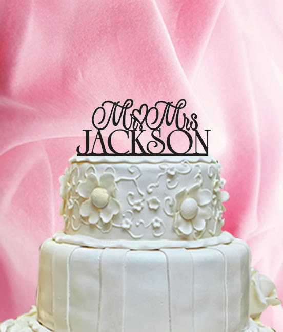 Свадьба - DISCOUNT!!!  Wedding Cake Topper Mr Love Mrs