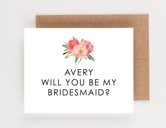 Mariage - Floral Wedding Party Cards, Will You Be My Bridesmaid, Will You Be My Maid of Honor