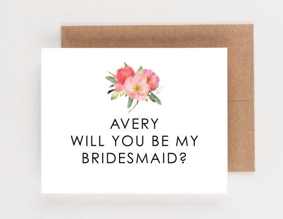 زفاف - Floral Wedding Party Cards, Will You Be My Bridesmaid, Will You Be My Maid of Honor