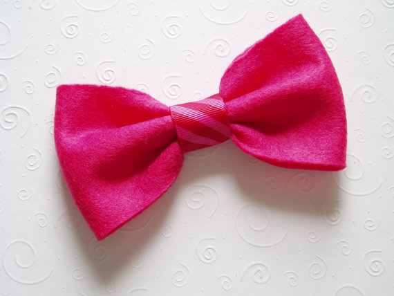 Свадьба - Dog Costume doggie Bow Tie Collar Attachment Pet Outfit Slider PINK bowtie formal wear, Clothing wedding formal birthday SMALL or LARGE