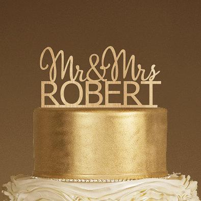 Delightful Rustic Cake Topper, Wood Cake Topper, Monogram Cake Topper, Mr And Mrs  Topper, Wedding Cake Topper,