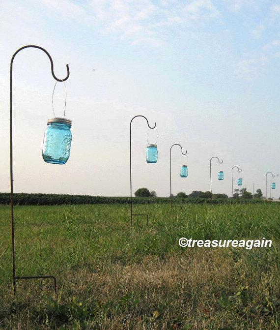 Hanging Jars With Hooks Wedding Aisle Flower Vases Or Wedding ...