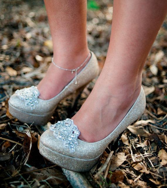 Wedding - rhinestone shoe clips - ORIANE