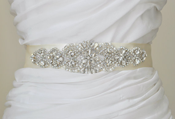 Mariage - Wedding Sash Bridal Belt Rhinestone Wedding Sash Swarovski
