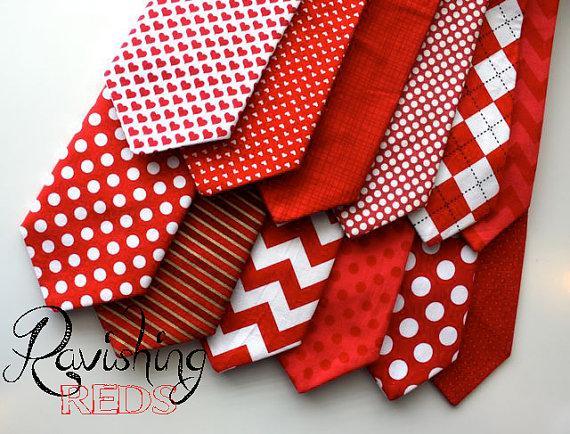 Little And Big Guy Necktie Tie   Ravishing REDS Collection    (Newborn Adult)   Baby Boy Toddler Teen Man   (Made To Order)  Valentineu0027s  Day