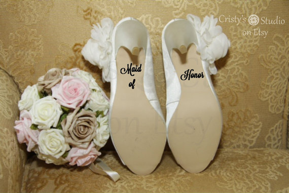 Mariage - Maid of Honor Wedding Shoe Decal