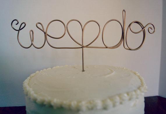 Wedding - Wedding Cake Topper - Custom Wire Love - We Do