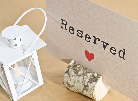 Reserved Sign, Table Sign, Reserved Seating, Wedding Reception ...