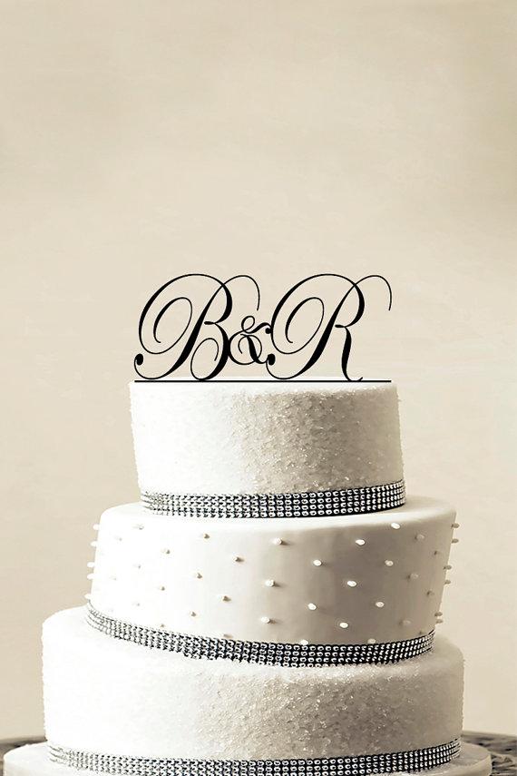 Wedding - Custom Wedding Cake Topper - Personalized Monogram Cake Topper - Initial Cake Topper - Cake Decor - Bride and Groom