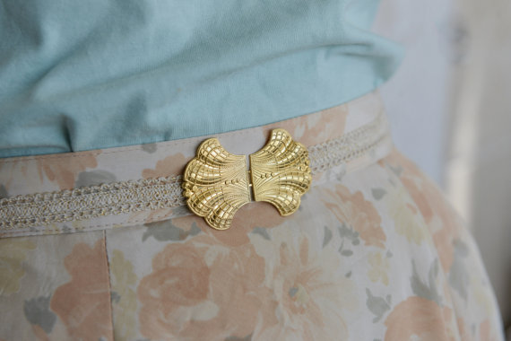 Mariage - Bridal Waist Belt - Gold Buckle - Ivory Belt - Wedding Dress Belt - Stretch Belt - Skinny Belt - Wedding Gown Belt - Cocktail Dress Belt