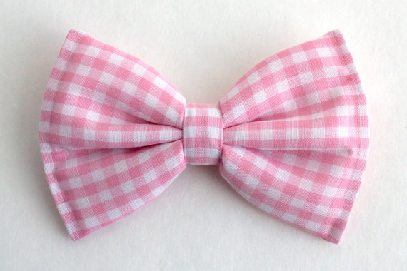 Mariage - Boys Bow Tie Pink Gingham, Newborn, Baby, Child, Little Boy, Great for Special Occasion Wedding or Photo Prop