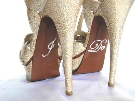 زفاف - Rhinestone I Do Shoe Stickers. I Do Applique for Shoes. Wedding Shoe Stickers. I Do Decals. Just Married. Wedding Favors.
