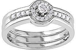 زفاف - FINE JEWELRY 1/4 CT. T.W. Diamond Bridal Ring Sterling Silver